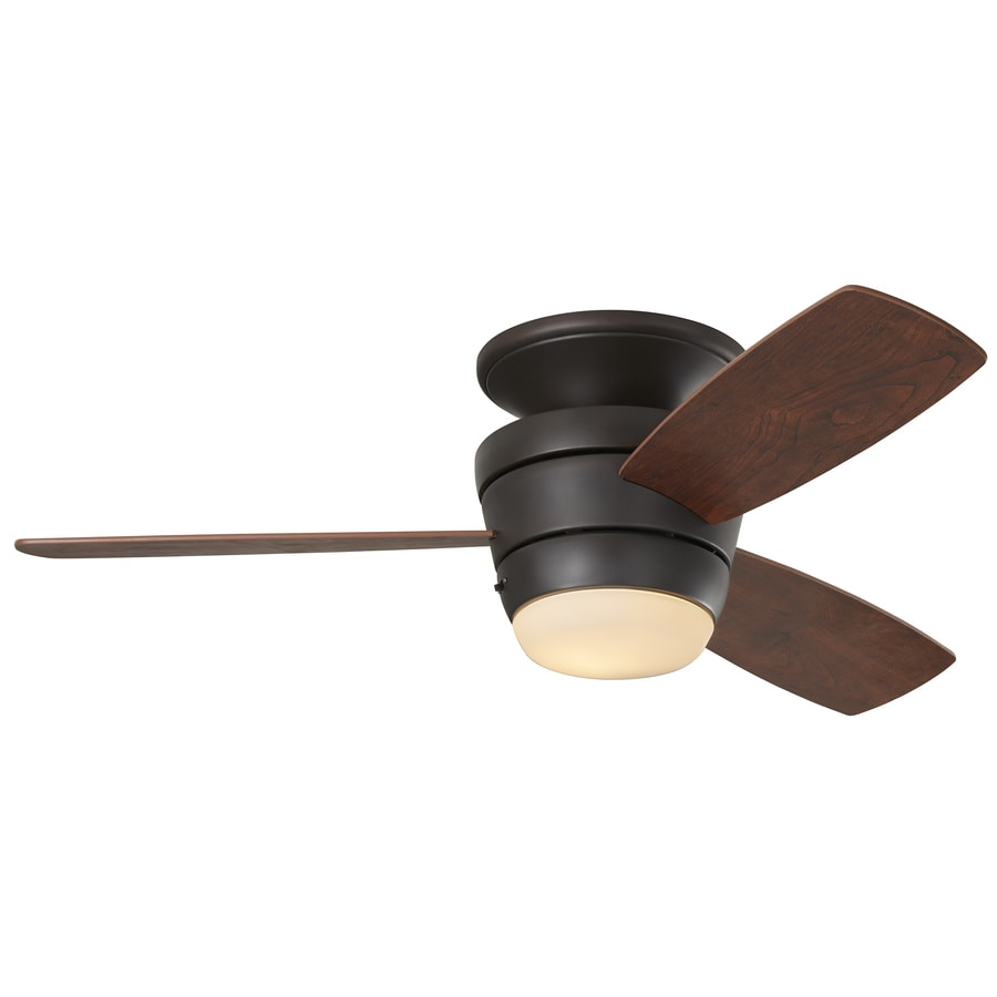 Shop Harbor Breeze Mazon In Bronze Flush Mount Indoor Ceiling Fan - Flush mount kitchen ceiling fans with lights