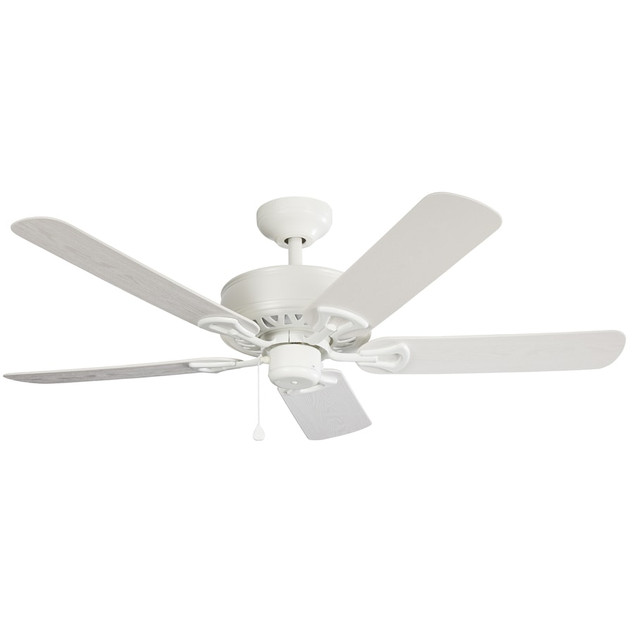 Harbor Breeze Calera 52-in White Indoor/Outdoor Downrod Mount Ceiling Fan ENERGY STAR