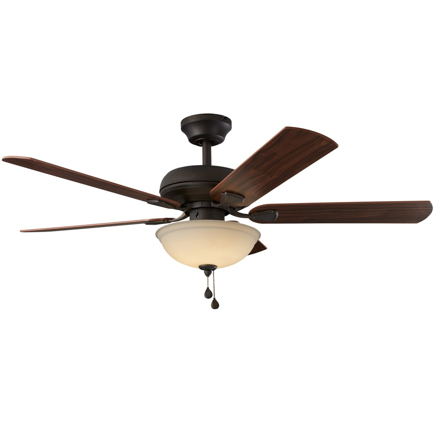Harbor Breeze Cross Branch 52-in Oil-Rubbed Bronze Downrod or Close Mount Indoor Ceiling Fan with LED Light Kit ENERGY STAR
