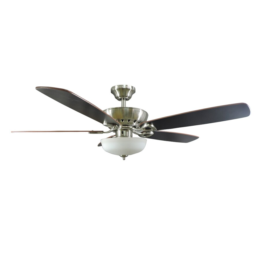 Shop harbor breeze paddle stream 52 in brushed nickel indoor ceiling harbor breeze paddle stream 52 in brushed nickel indoor ceiling fan with light kit and aloadofball Image collections