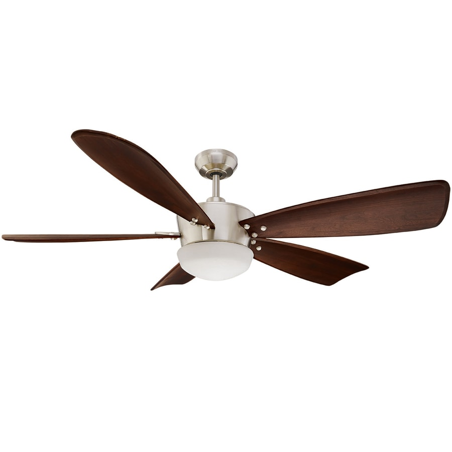 Harbor Breeze Saratoga 60 In Brushed Nickel Indoor Downrod Mount Ceiling Fan With Light Kit
