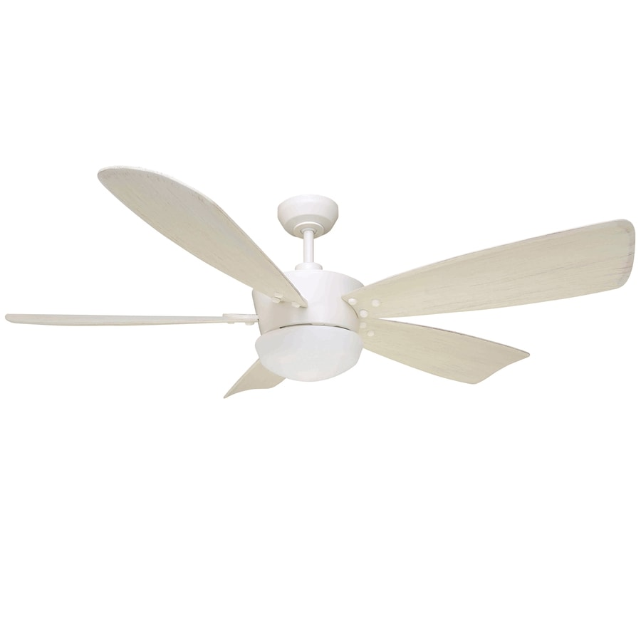 Harbor Breeze Saratoga 60-in White Downrod Mount Indoor Ceiling Fan with Light Kit and Remote