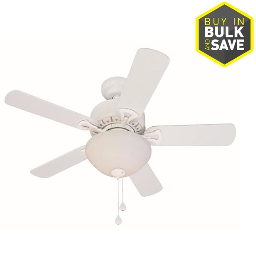 Harbor Breeze Classic White 36 In Led Indoor Ceiling Fan 5 Blade In The Ceiling Fans Department At Lowes Com