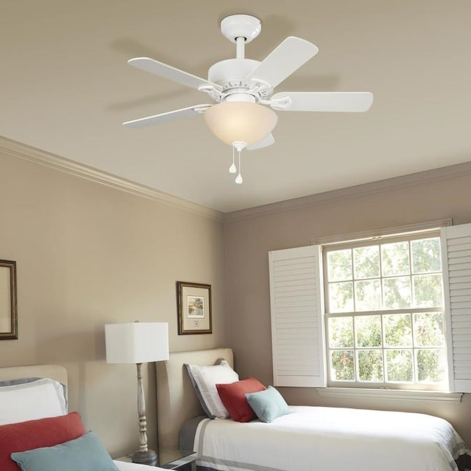 Harbor Breeze Classic 36 In White Led Indoor Ceiling Fan