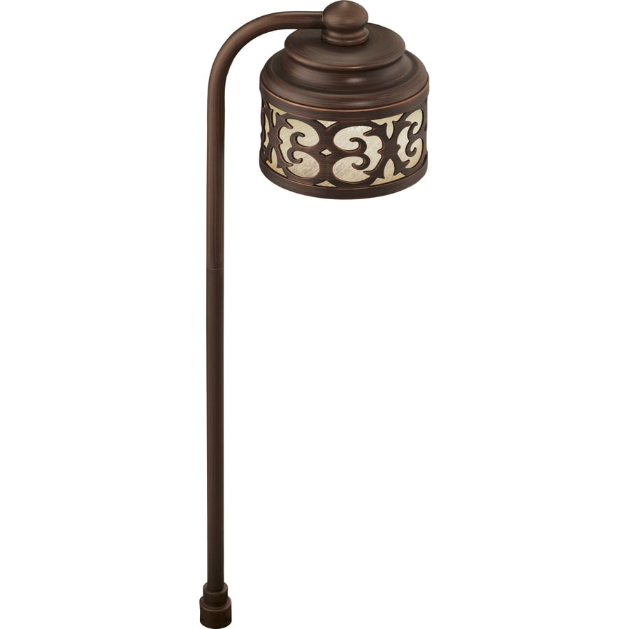 Shop portfolio 3 watt bronze low voltage plug in led path for Volt outdoor lighting