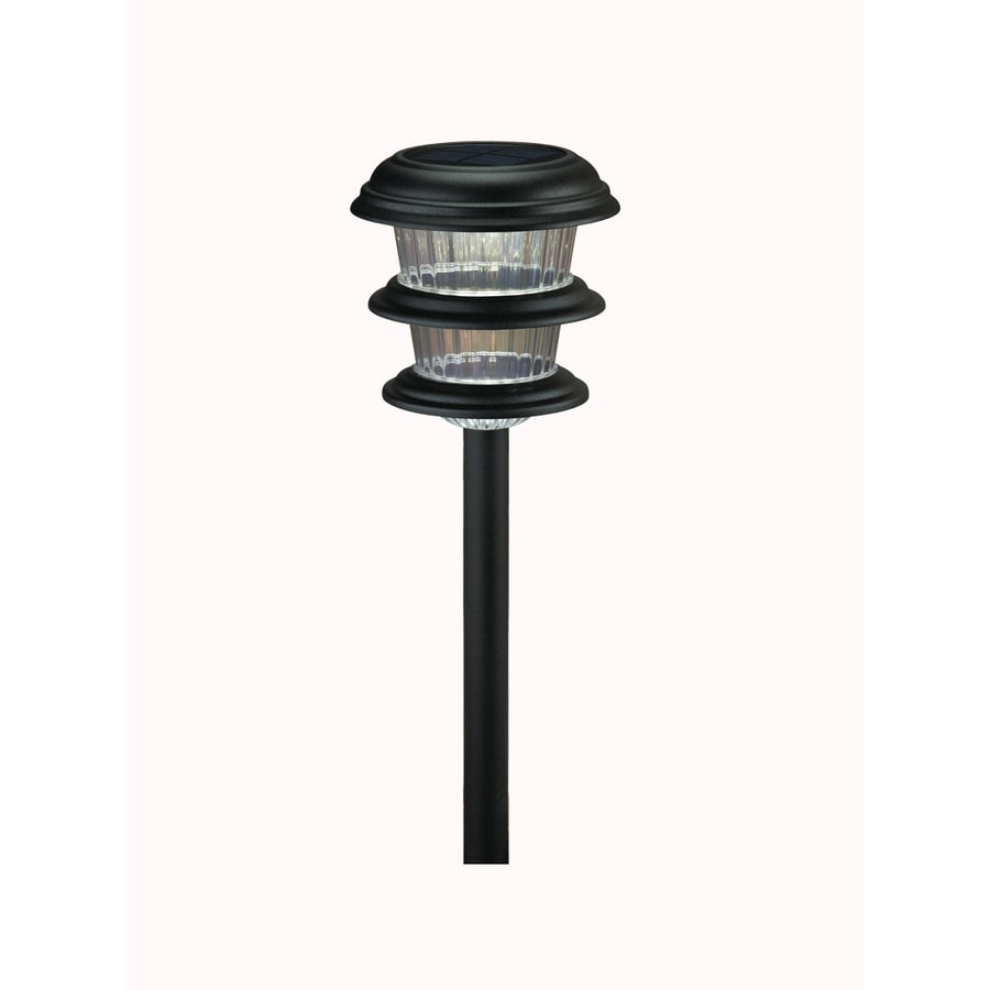 Shop Portfolio 8-Pack Black Solar-Powered LED Path Lights