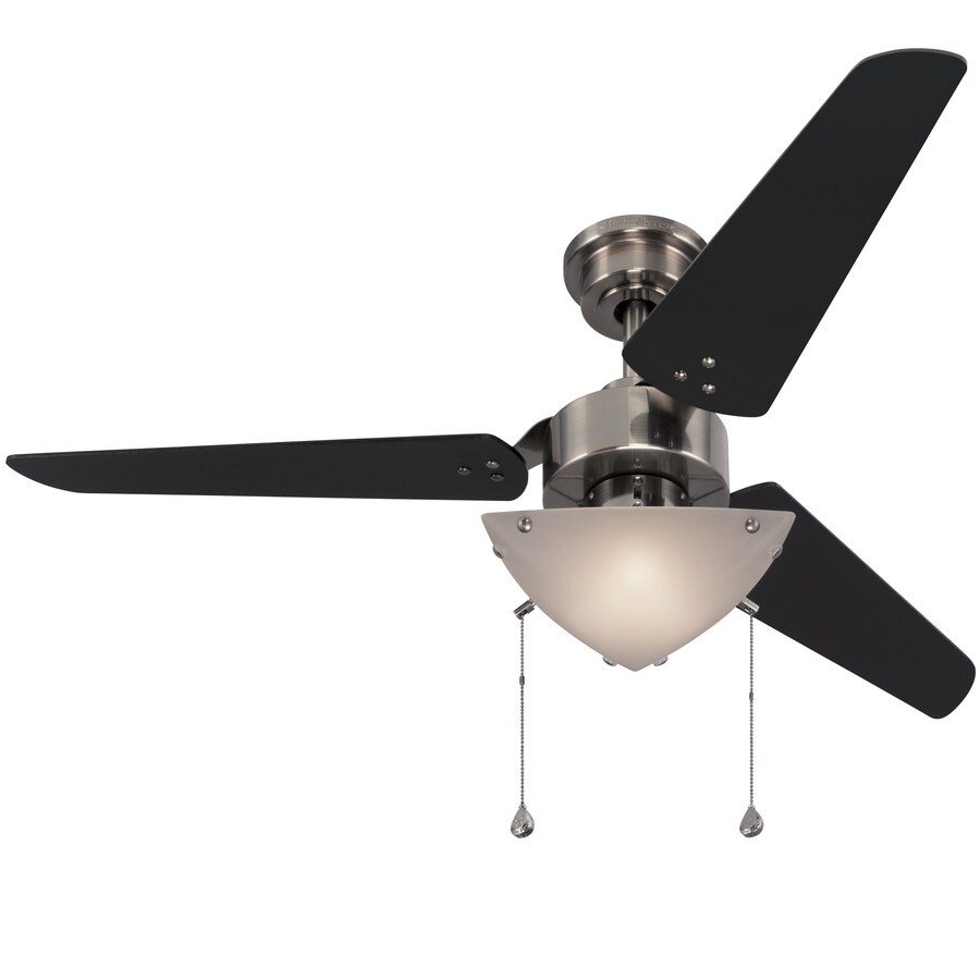 Harbor Breeze 48-in Polished Pewter Downrod Mount Indoor Residential Ceiling Fan with Light Kit