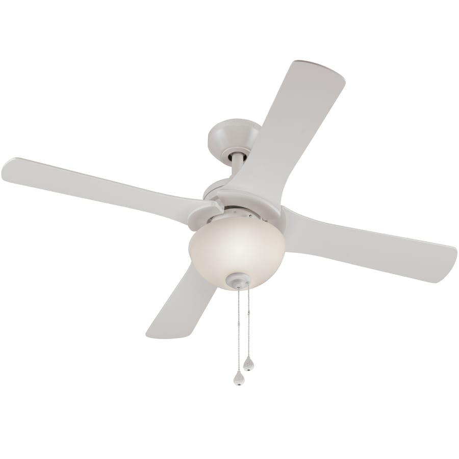 shop harbor breeze aero 42 in white indoor ceiling fan with light