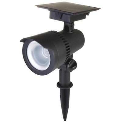 Portfolio 40-Lumen Black Solar LED Spot Light at Lowes com