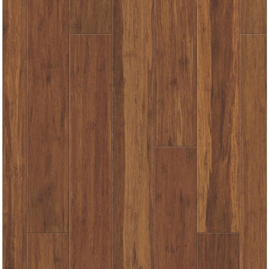 Shop natural floors by usfloors spice bamboo for Hardwood plank flooring