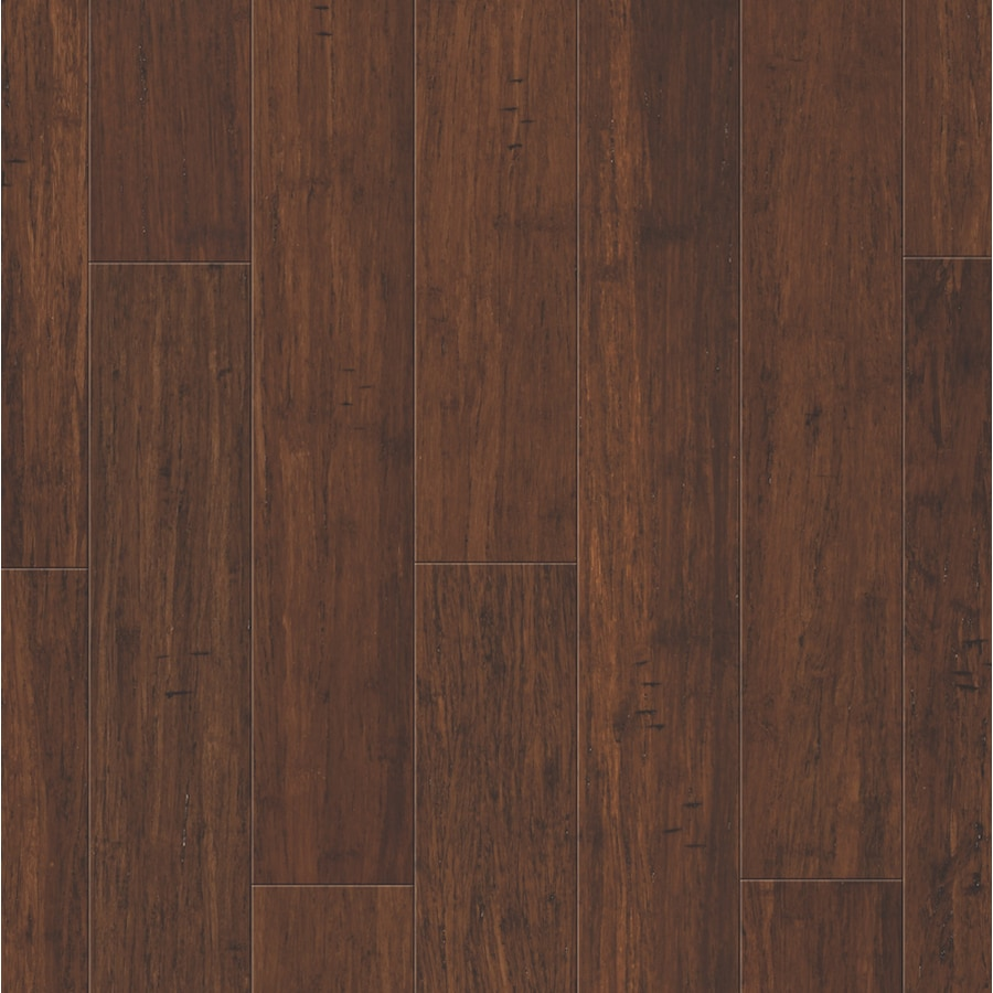 Shop natural floors by usfloors 5 in brushed spice bamboo for Hardwood flooring