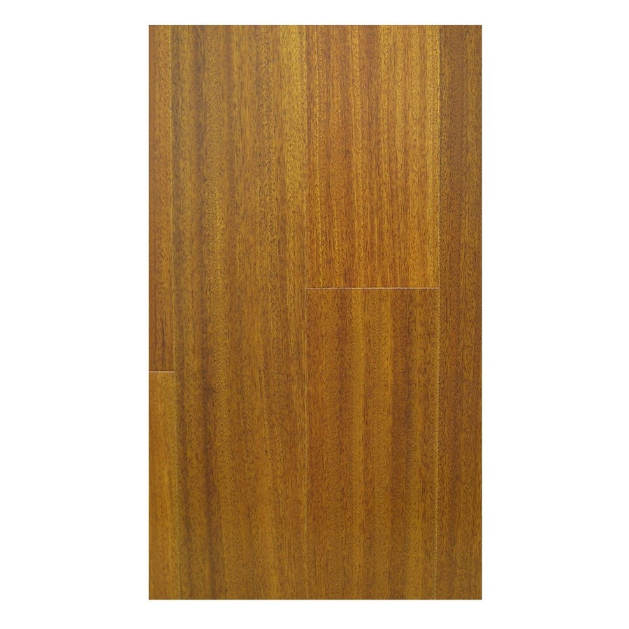 Natural Floors by USFloors Exotic 5-in W Prefinished Iroko Locking Hardwood Flooring (Natural)