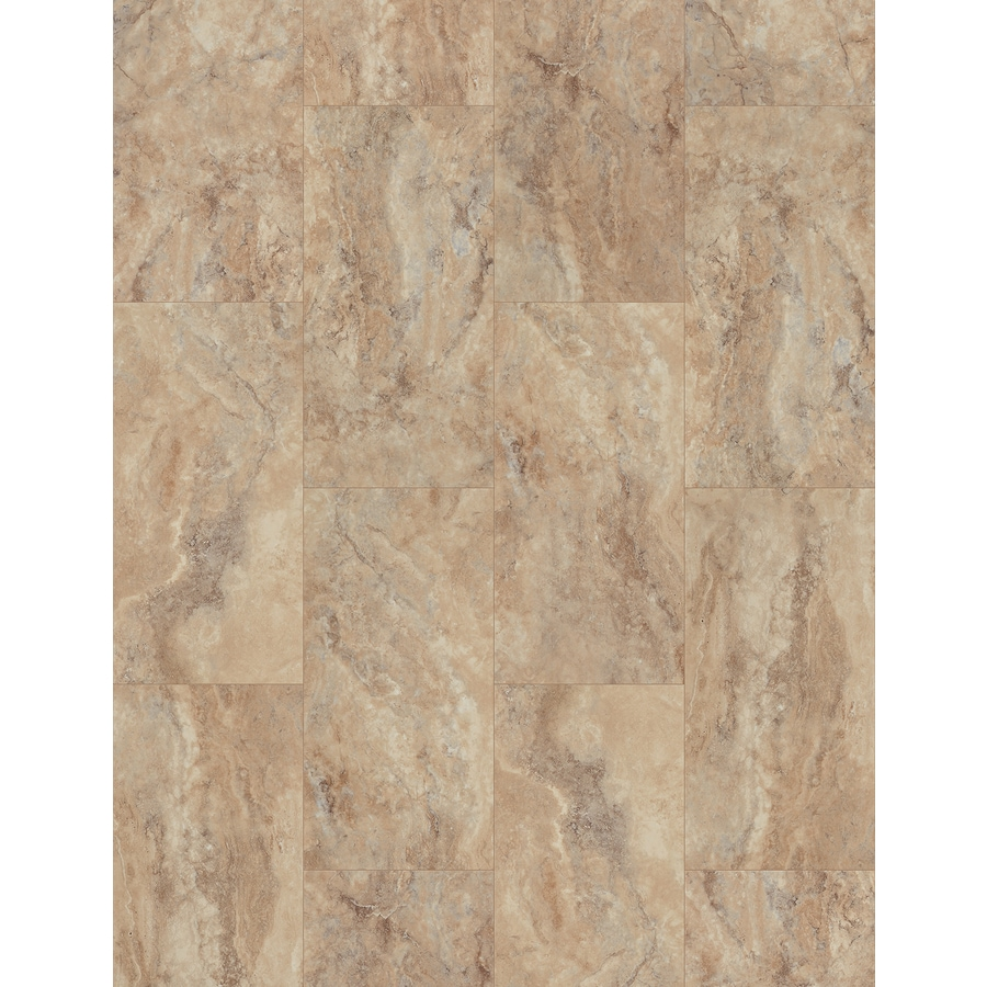 SMARTCORE Ultra 8-Piece 11.97-in x 23.62-in Tivoli Travertine Locking Luxury Commercial/Residential Vinyl Plank