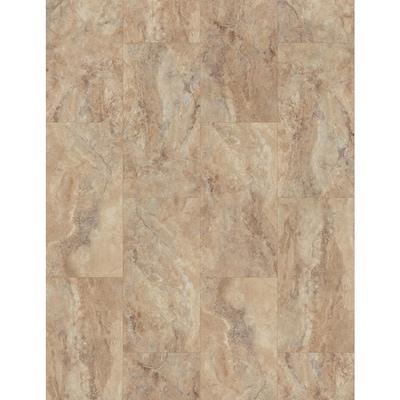 Ultra 8 Piece 11 97 In X 23 62 In Tivoli Travertine Luxury Vinyl Plank Flooring