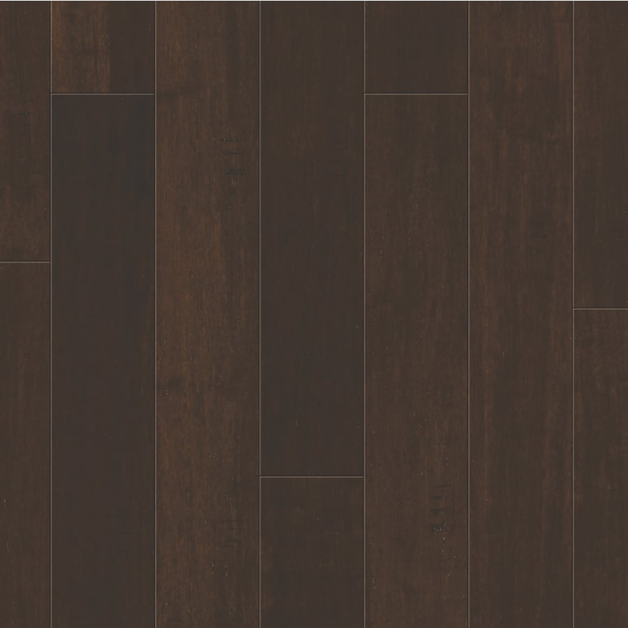 Shop Natural Floors by USFloors 5in Dark Java Handscraped Bamboo