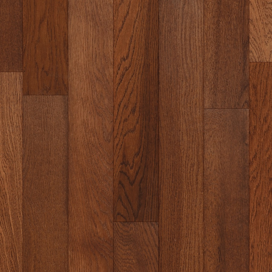 Style Selections Style Selections Hardwood 4-in Gunstock Oak  Smooth/Traditional Engineered Hardwood Flooring (4.4-sq ft)