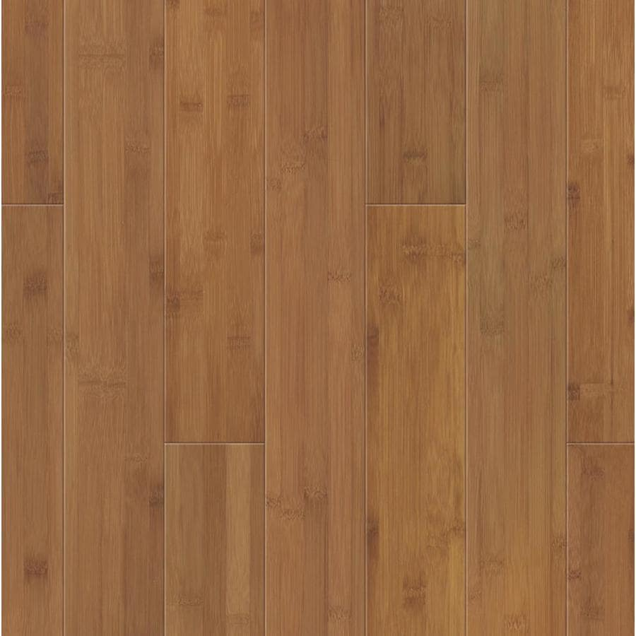 Shop natural floors by usfloors spice bamboo solid for Hardwood floors or carpet