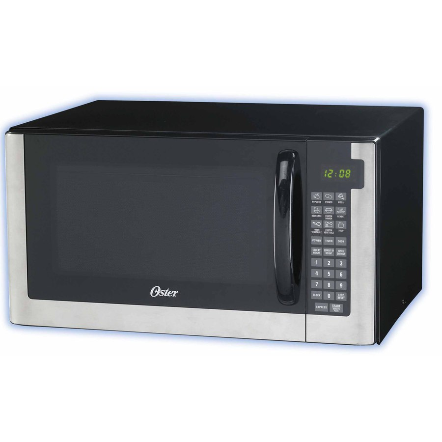 Oster 1.4-cu ft 1200-Watt Countertop Microwave (Black)