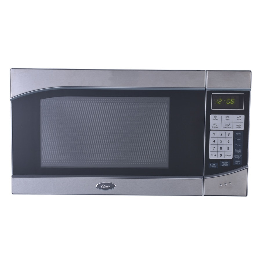 Oster 0.9-cu ft 900-Watt Countertop Microwave (Stainless/Black)