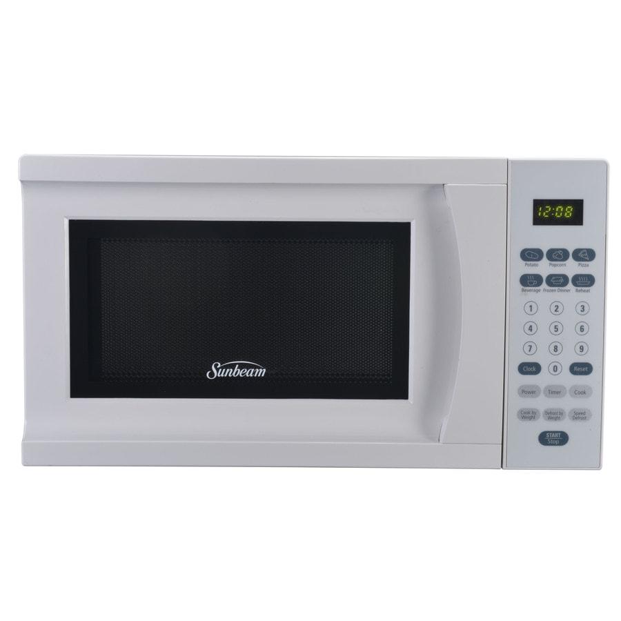 Sunbeam 0.7-cu ft 700-Watt Countertop Microwave (White)