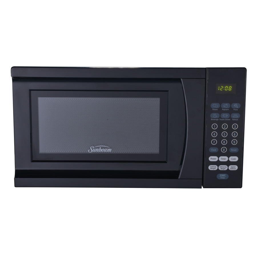 Countertop Stove Lowes : ... Sunbeam 0.7-cu ft 700-Watt Countertop Microwave (Black) at Lowes.com