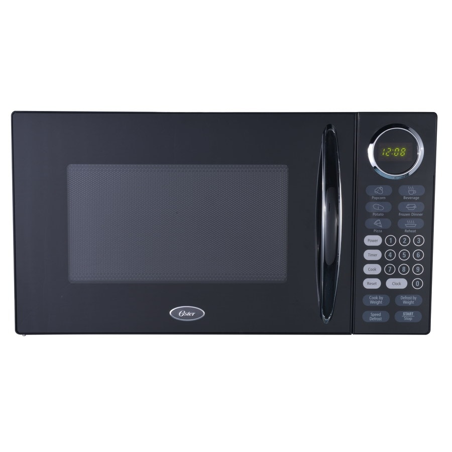 Shop Oster 0.9-cu ft 900-Watt Countertop Microwave (Black) at Lowes ...