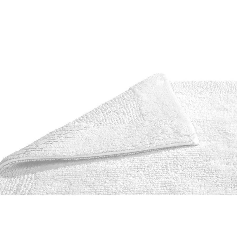 Grund Organic Cotton Puro 24-in x 17-in White Cotton Bath Rug