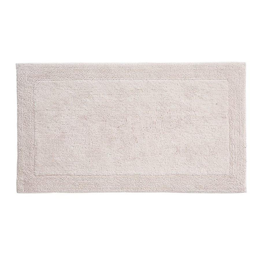 Grund Organic Cotton Puro 34-in x 21-in Off-White Cotton Bath Rug
