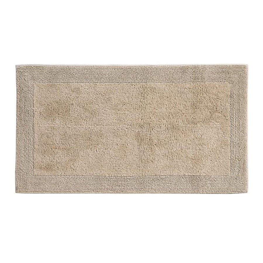 Grund Organic Cotton Puro 24-in x 17-in Brown Cotton Bath Rug