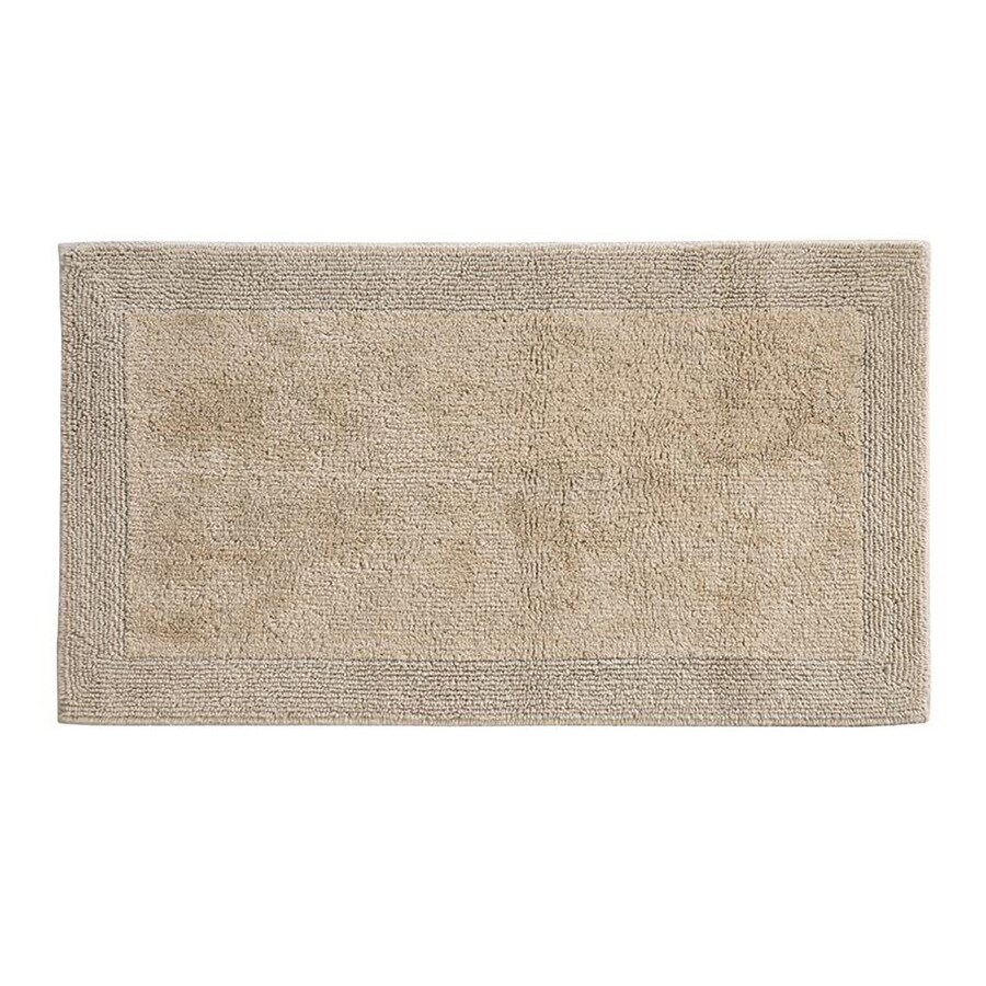 Grund Organic Cotton Puro 40-in x 24-in Brown Cotton Bath Rug