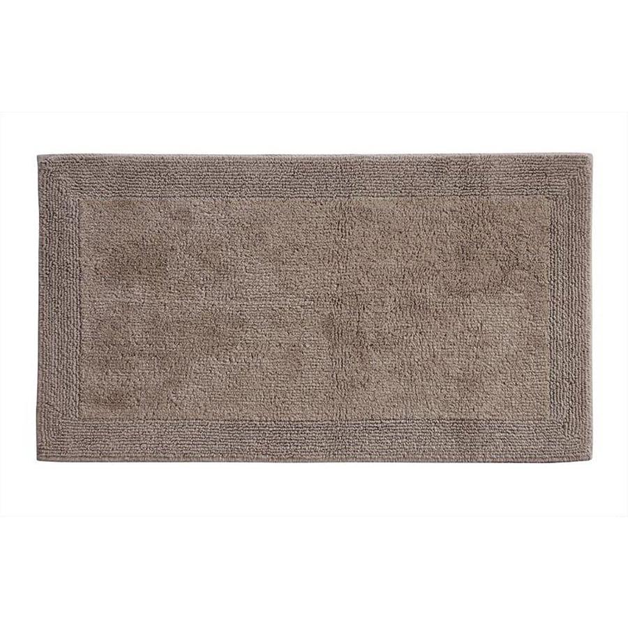 Grund Organic Cotton Puro 40-in x 24-in Brown Cotton Bath Rug