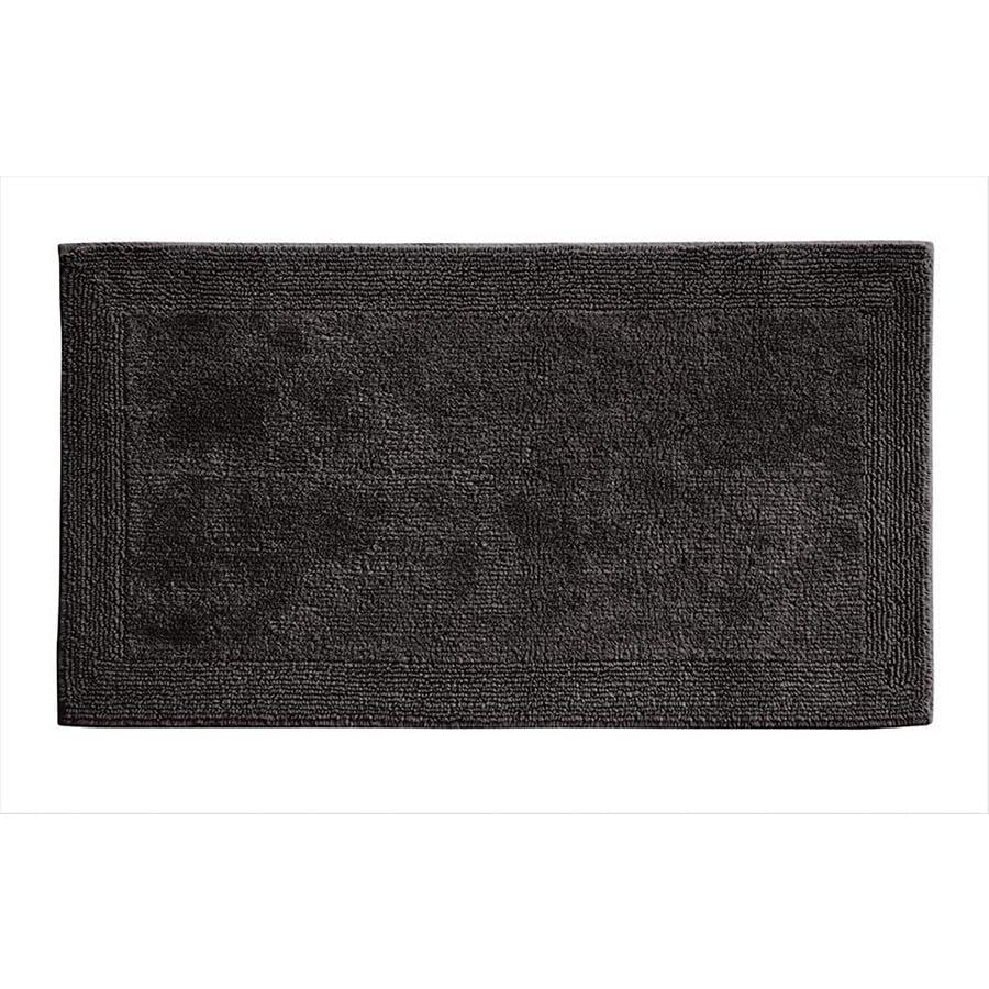 Grund Organic Cotton Puro 34-in x 21-in Gray Cotton Bath Rug