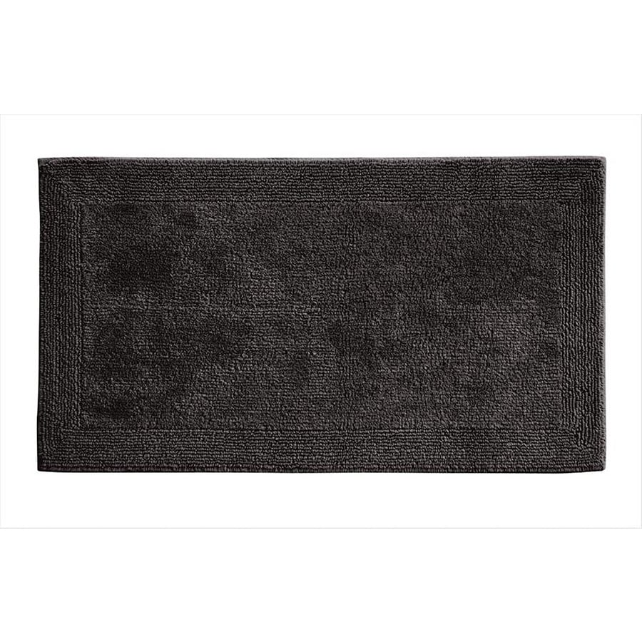 Grund Organic Cotton Puro 40-in x 24-in Gray Cotton Bath Rug