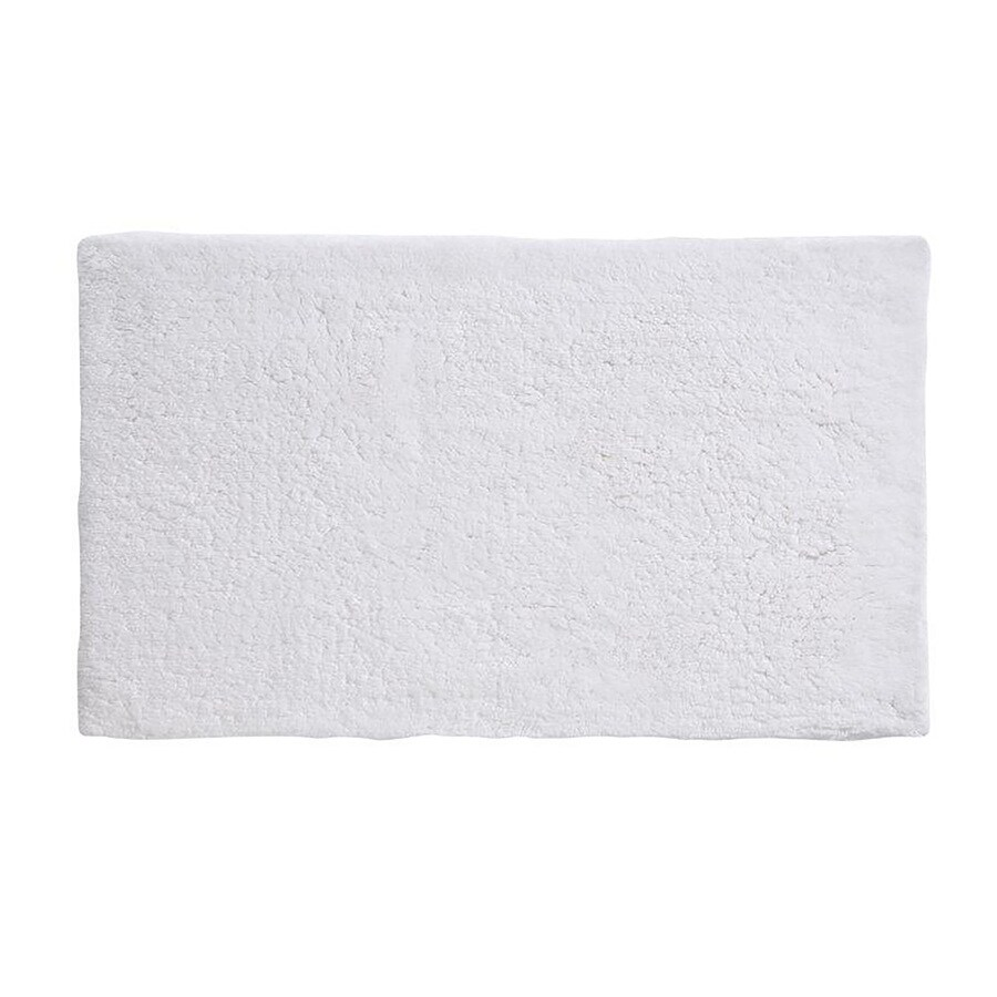 Grund Organic Cotton Namo 24-in x 17-in White Cotton Bath Rug