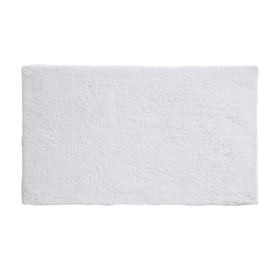 Grund Organic Cotton Namo 34-in x 21-in White Cotton Bath Rug