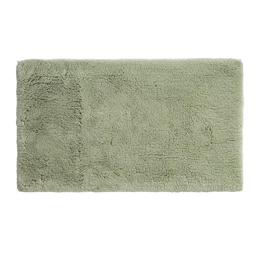 Grund Organic Cotton Namo 24-in x 17-in Green Cotton Bath Rug