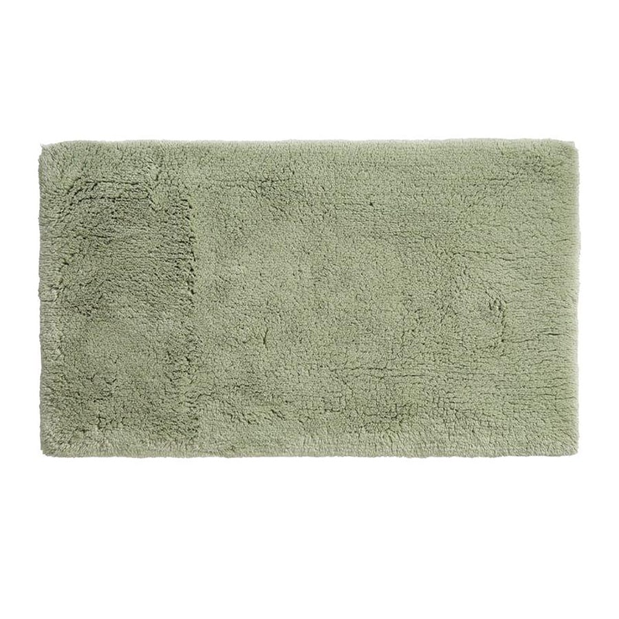 Grund Organic Cotton Namo 40-in x 24-in Green Cotton Bath Rug