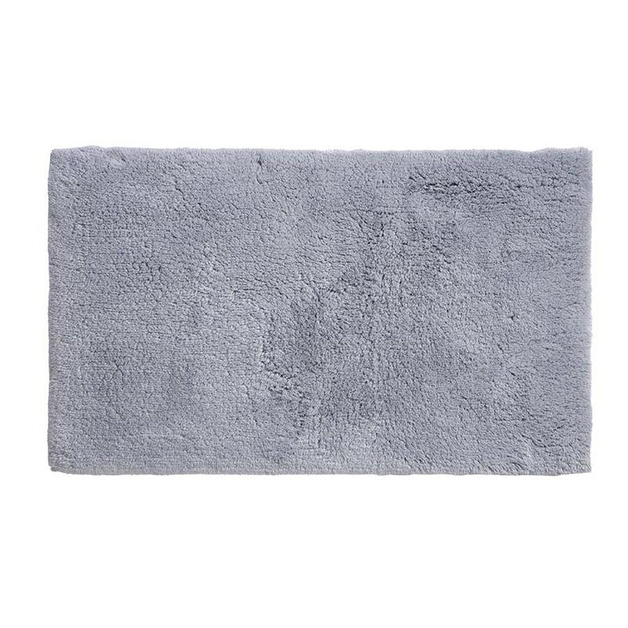 Grund Organic Cotton Namo 24-in x 17-in Blue Cotton Bath Rug