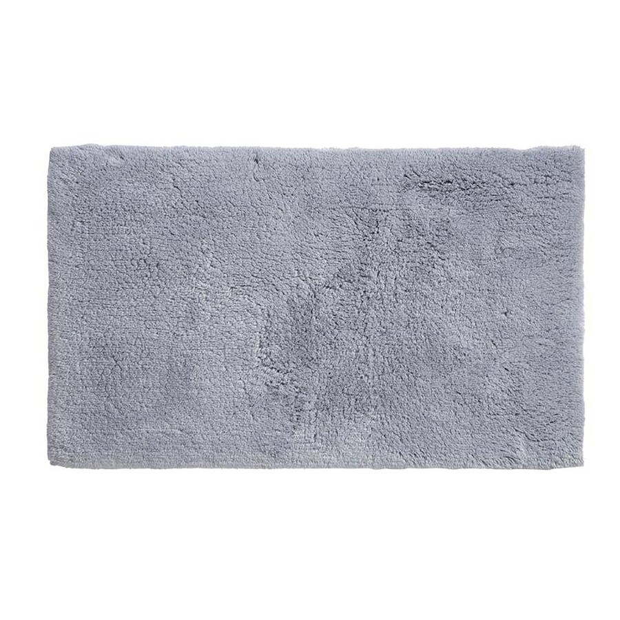 Grund Organic Cotton Namo 40-in x 24-in Blue Cotton Bath Rug