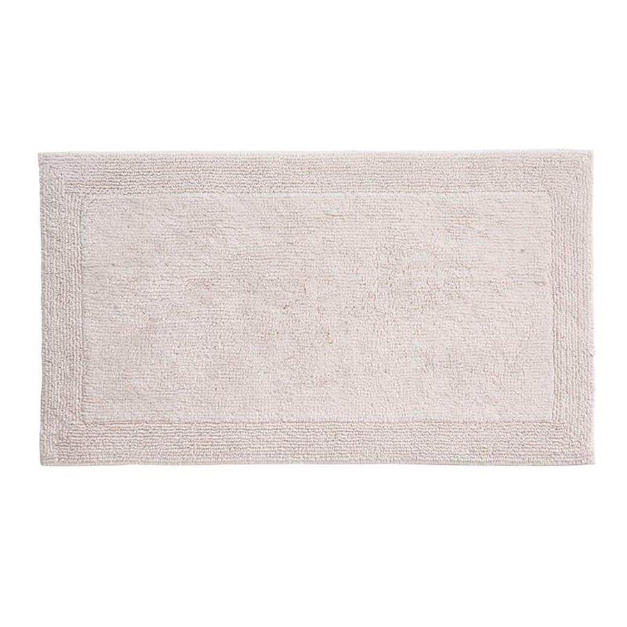 Grund Organic Cotton Puro 60-in x 24-in Off-White Cotton Bath Rug