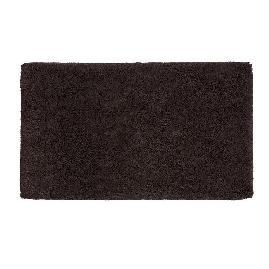 Grund Organic Cotton Namo 60-in x 24-in Brown Cotton Bath Rug