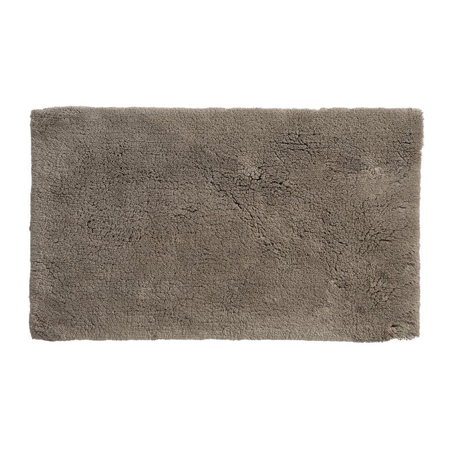 Grund Organic Cotton Namo 60-in x 24-in Brown Cotton Bath Rug