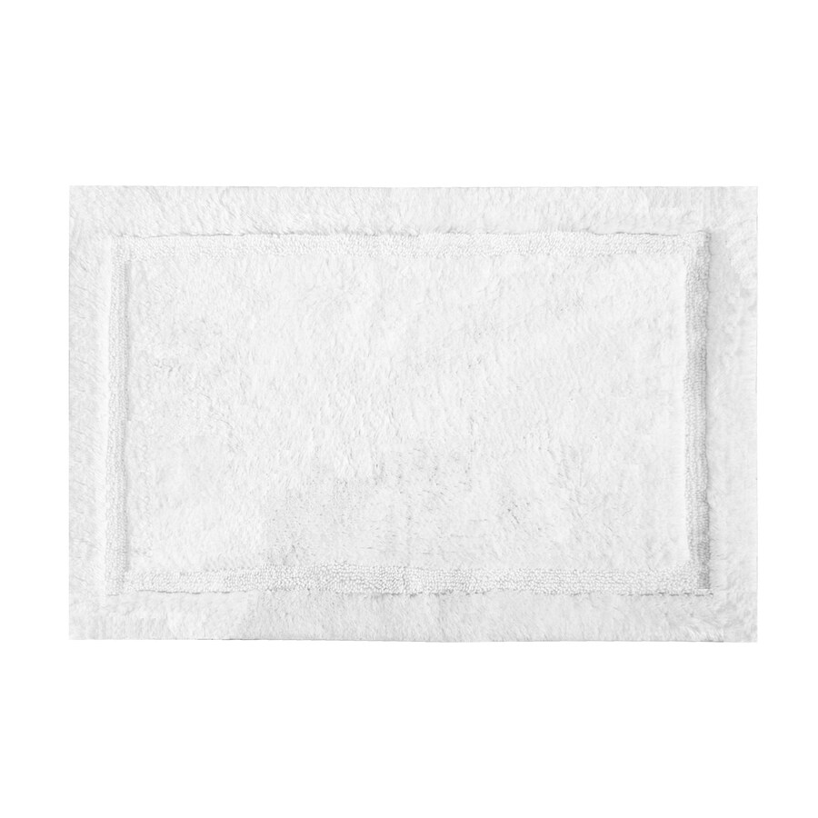 Grund Organic Cotton Asheville 34-in x 21-in White Cotton Bath Rug