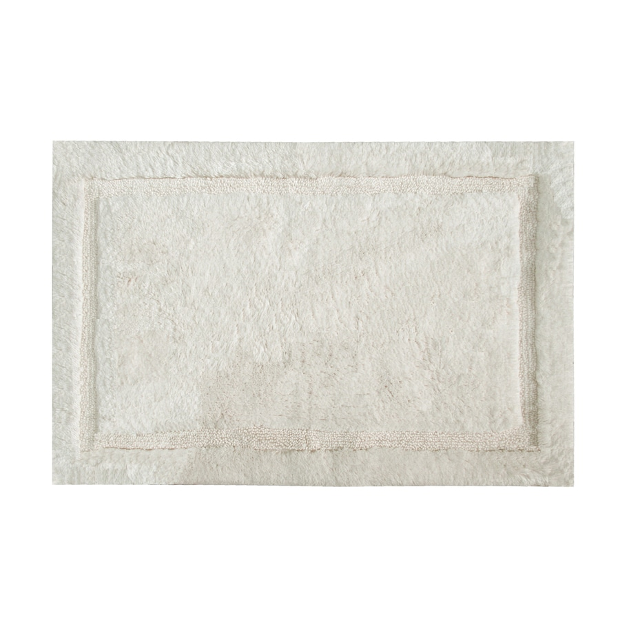 Grund Organic Cotton Asheville 40-in x 24-in Off-White Cotton Bath Rug