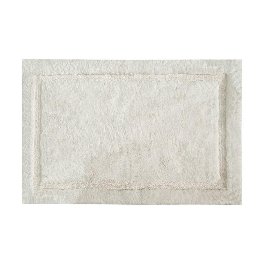 Grund Organic Cotton Asheville 60-in x 24-in Off-White Cotton Bath Rug