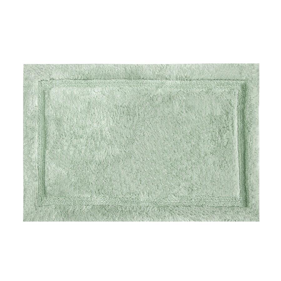 Grund Organic Cotton Asheville 60-in x 24-in Green Cotton Bath Rug