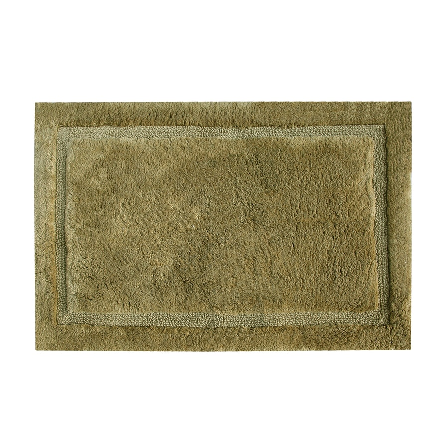 Grund Organic Cotton Asheville 40-in x 24-in Brown Cotton Bath Rug