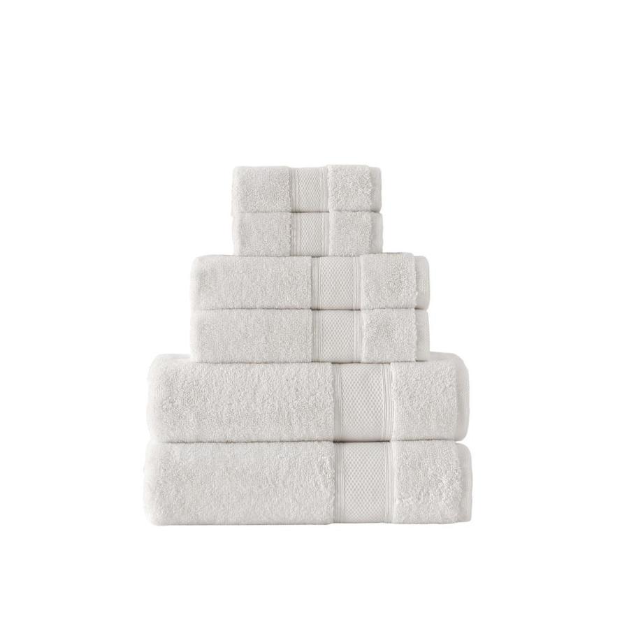 Grund Grund Pinehurst 6pc set Ivory 54-in x 30-in Ivory Organic cotton Bath towel