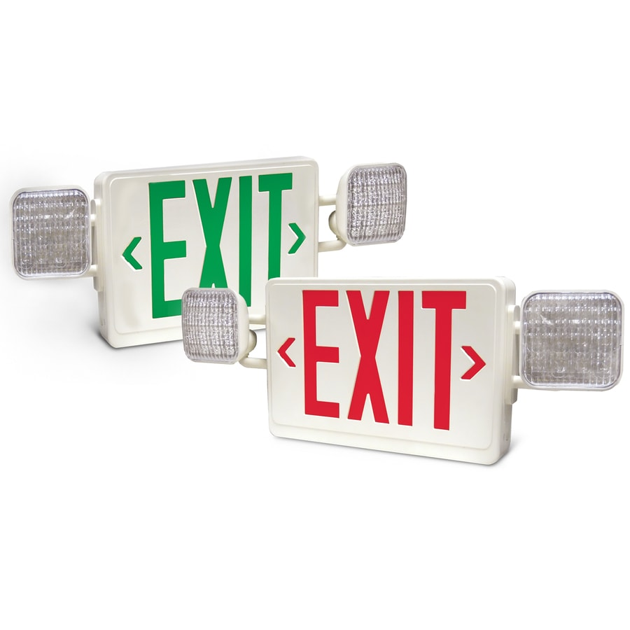 Utilitech Red/Green LED Exit Light