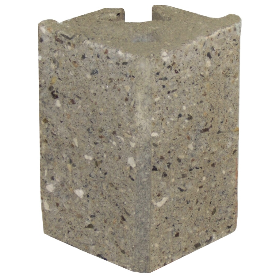 Novabrik 4-in x 6-in Aspen Gray Outside Corner Block Brick Veneer Trim